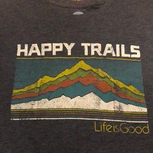 Life Is Good! Happy Trails Men's T-Shirt Size XL